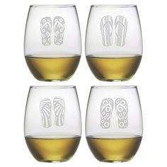 Sandals Stemless Wine Glass (Set of 4) at Joss and Main