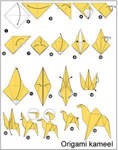 origami kameel vouwen