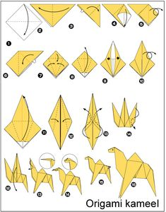 Origami Patterns for Beginners | 3D origami animation diagrams- animated origami diagram to fold a