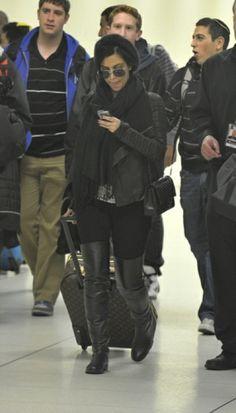 Kim Kardashian. All black everything!