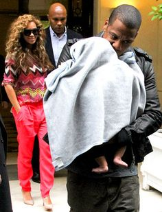 Beyonce, Jay-Z & Baby Blue Ivy. You reproduced... way to go.