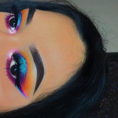 rainbow colourful makeup glam pinterest// @dri_chaw