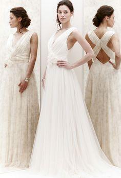 Jenny Packham #wedding dress from spring 2013 - elegant back, flattering v-neckline. Would flatter most figures.