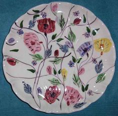 Blue Ridge Pottery Chintz Flat Shell Bonbon 120112B | eBay