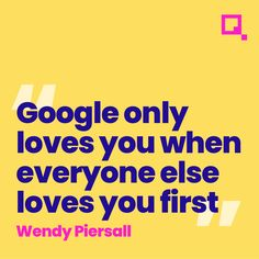 This quote from #wendypiersall is really talking about your website traffic. How much traffic, how long they stay on your website and whether people are linking to your website will all improve your #seo and #serp #digitalmarketing #marketing #socialmediamarketing #socialmedia #webdesign #branding #business #onlinemarketing #marketingdigital #contentmarketing #website #searchengineoptimization #google #advertising #instagram #graphicdesign #pinksquaremedia Content Marketing, Social Media Marketing, Online Marketing, Digital Marketing, Web Design, Graphic Design, Love Yourself First, Search Engine Optimization, Seo