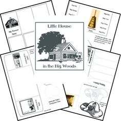 "Free Little House in the Big Woods Lapbook (as well as ""lapbooks"" for each Little House book)"