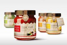 New Ideas Design Packaging Jar Ideas Honey Packaging, Food Packaging Design, Chocolate Packaging, Bottle Packaging, Gelato, Tea Labels, Food Jar, Pots, Chutney