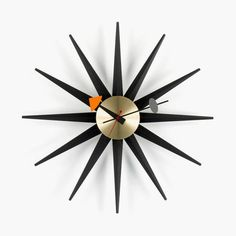 George Nelson by Vitra. Sunburst Clock black_web
