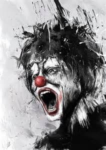 ... : Gangster Clown Art , Famous Clown Artwork , Evil Clown Artwork