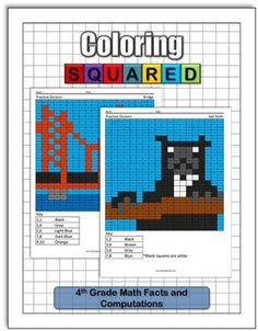 Practice math facts and computations while you color with our 4rd grade math  coloring pages. This pack includes 15 math fact and computation pages to practice various number concepts.5 Multiplication pages5 Division pages5 Regrouping Multiplication pages