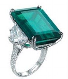 16 carat emerald and diamond ring - just went missing from the Four Seasons ladies room in Hong Kong. If you see it - cal he authorities please.  Swiss jeweller Caroline Gruosi-Scheufele, 49, forgot she had taken the ring off to wash her hands after visiting the ladies' room of the Four Seasons Hotel's Harbour View ballroom in Hong Kong. The stunning piece made by Chopard, the family firm which Mrs Gruosi-Scheufele runs with her brother Karl, consists of a 16.83 carat emerald sitting between…
