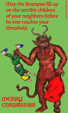 Nothing scared me more as a child than tales of Krampus coming out on Krampusnatch. #krampus, #folklore, #saintnickswingman