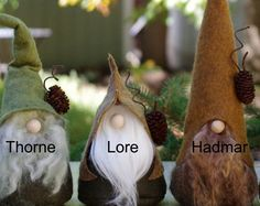 Nordic Gnomes LORE the Quirky Woodland Gnome by TheGnomeMakers