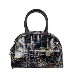 Map Bowler Bag Black, $35, now featured on Fab.
