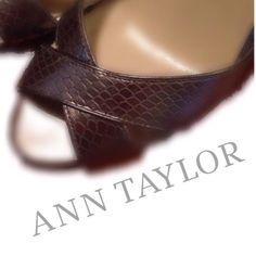 Selling this Ann Taylor Dark Silver Croc Heels Size 5 1/2 in my Poshmark closet! My username is: noyesno777. #shopmycloset #poshmark #fashion #shopping #style #forsale #Ann Taylor #Shoes
