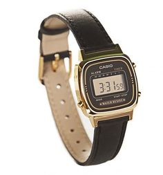 7fef256879f This fabulously retro Casio watch comes with a real leather strap and  features that classic digital