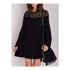 98844fe30e38 SHEIN offers Black Long Sleeve Crochet Lace Dress   more to fit your  fashionable needs.
