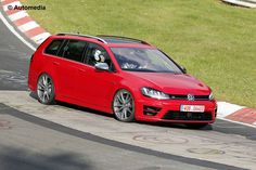 Spy shots of Volkswagen's rapid new Golf R estate show it out testing in showroom spec, ahead of December 2014 launch
