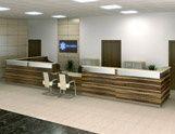 Alfa Reception Desks Modern Reception Desk, Reception Desk Design, Reception Counter, Office Reception, Reception Areas, Desks, Interior, Furniture, Offices