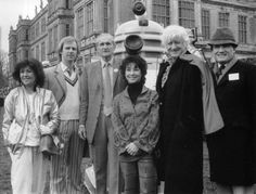 Lord Bath at the 20th Anniversary of Doctor Who celebrations in Longleat, 1983 with some of the events special guests