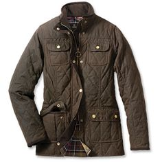 Barbour® Women's Quilted Utility Jacket $499. For Harvard-Yale games of the future and weekends in Central Park in Fall.