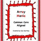 """This 11 page item comes with 36 Array Mania Cards, a student Array Mania Player Form, and Array Mania Direction Cards for completing a fun, educational activity. Also included is an Array Mania Practice Worksheet to complete after completing the activity, an Answer Key for the worksheet, and 2 mini-posters displaying a """"row"""" and a """"column."""" This item is aligned to the Common Core Standard MCC4. NBT. 5.  $"""