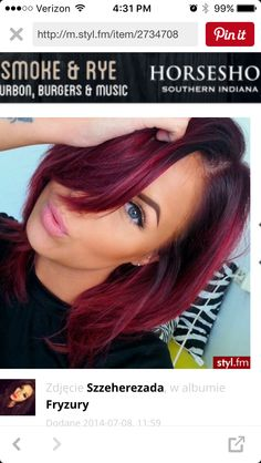 I really want to do this to my hair, but maybe not quite as bright of red on the bottom.