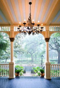 outdoor chandelier. omg.