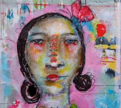 Be yourself - mixed media painting by Mystele Kirkeeng on Etsy, $75.00