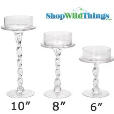 Our new glass candle holder is so unique and is sure to add a touch of class and style to your event decorations!  The twisted stem makes this candle holder stand out like no other.  The candle holder