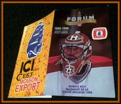 1995-96 MONTREAL CANADIANS MOLSON EXPORT HOCKEY POCKET SCHEDULE ROY ON COVER #Pocket #Schedule