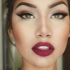 Maquillaje de labios burgundy #makeup #maquillaje #labios #lipstick #burgundy