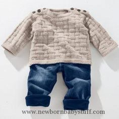 Model Baby sweater from Freizeit uni by Junghans-Wolle «Baby Models« Knitted Models Junghans-Wolle «Knitting & Crochet – Knitting: Buy cute baby sweaters, baby jackets and much more in the Junghans-Wolle Creativ-Shop Source by bettinuki Baby Boy Sweater, Knit Baby Sweaters, Baby Cardigan, Knit Baby Dress, Crochet Baby Shoes, Baby Boy Knitting Patterns, Knitting For Kids, Free Knitting, Crochet Patterns