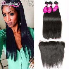 Lace Frontal Closure With Bundles Straight Virgin Hair Bundle Deals With Frontal 3 Bundles Human Hair Weave With Frontal Closure http://jadeshair.com/lace-frontal-closure-with-bundles-straight-virgin-hair-bundle-deals-with-frontal-3-bundles-human-hair-weave-with-frontal-closure/ #HairWeftClosure(Bang)