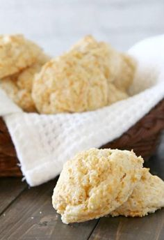 Garlic Cheddar Cheese Biscuits | Get ready for the easy biscuits that put the famous Cheddar Bay Biscuits to shame.