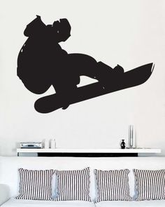Vinyl Wall Art Decal Snowboard Extreme Sports Big by Stickerbrand, $24.95
