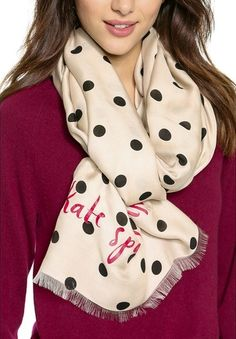 Darling dotted scarf from kate spade http://rstyle.me/n/p5y7rnyg6