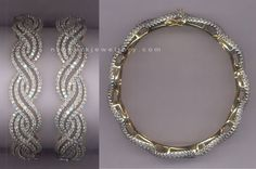 Weaving Diamond Bangle   #diamond #bangles #jewellery #jewelry