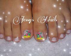 uñas decoradas pies #uñas #pies #delicadas