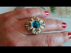 Tutorial Anello RENEE /TUTORIAL Beaded Ring - YouTube