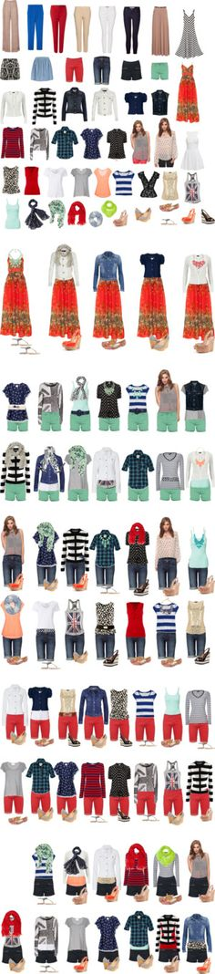 """Capsule Wardrobe -- Spring & Summer"" by cocogolightly on Polyvore Visit cocogolightly.polyvore.com"
