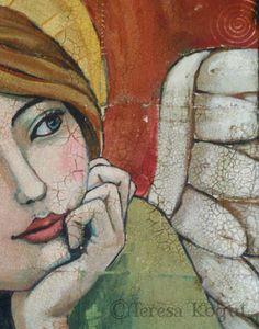 Teresa Kogut we all have wings I Believe In Angels, Arte Popular, Angel Art, Art And Illustration, Religious Art, Face Art, Medium Art, Ikon, Painting Inspiration