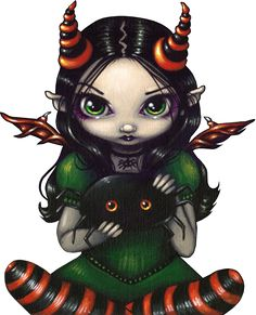 Jasmine Becket Griffith Art Print Signed A Spidery Friend Big Eye Creepy Cute… Steampunk Fairy, Gothic Fairy, Dracula, Fairy Pictures, Moon Pictures, Baby Fairy, Creepy Cute, Fairy Art, Art Portfolio