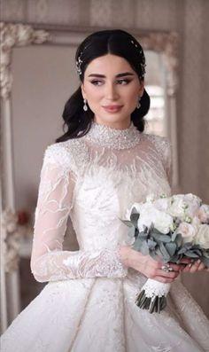 Wedding Gown A Line, Classy Wedding Dress, Fancy Wedding Dresses, Wedding Dressses, Princess Wedding Dresses, Plus Size Wedding Dresses With Sleeves, Wedding Dress Sleeves, Bridal Outfits, Bridal Dresses