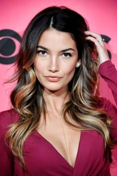 Lily Aldridge. make up and hair.