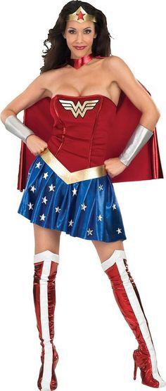 Wonder Woman™-kostuum voor vrouwen : Vegaoo Volwassenen Kostuums