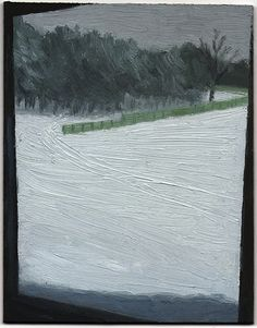 Eleanor Ray: Icy Window, 2012, Oil on Panel, 5 x 3 15/16