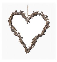 heart made of little wood sticks