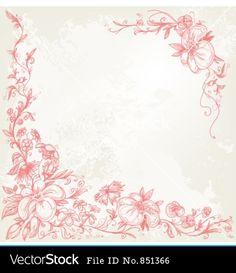 floral vintage BORDERS - Google Search