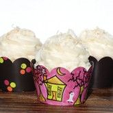 Halloween cupcakes!  (no purple frosting or expert decorating skills necessary.)  the cute wrappers are here:  http://confetticouture.com/cupcake-couture.html#